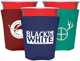 Collapsible Foam Solo Style Cup Insulators Custom